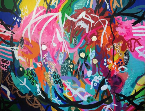 Sold Summer Party in the Hunter Valley 153 x 123cm