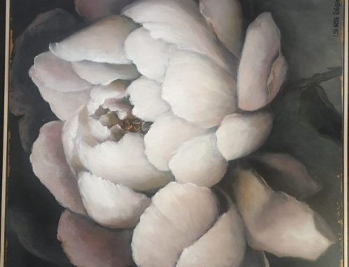 Blooms of Vanilla Meringue 1 80 x 80cm