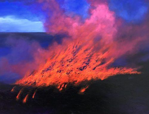 ETERNAL FLAME 122 X 183CM