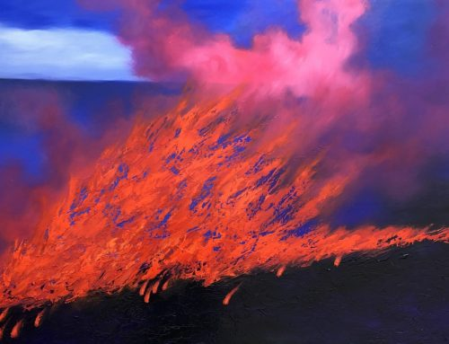 THE FLAMES OF THE BALLABOURNEEN 100 X 150CM