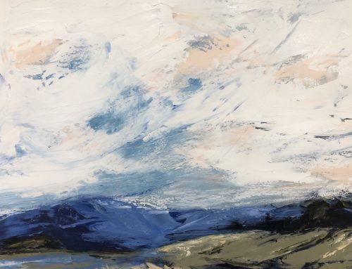 EVENING LIGHT ON TEDDY'S HILL 89 X 113CM