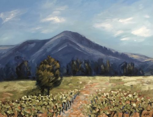 VIEW FROM EKERTS ROAD 92 X 122CM
